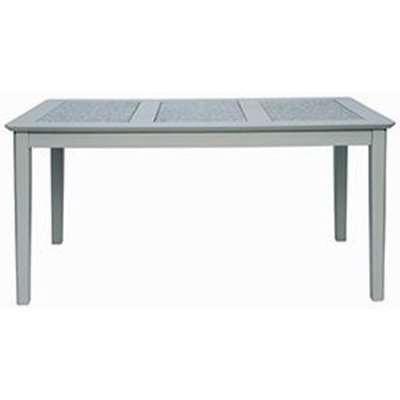 Perth Stone Inset Top Large Dining Table In Grey