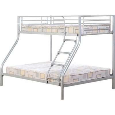 Tandi Metal Triple Sleeper Bunk Bed In Silver