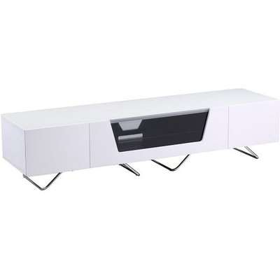 Romi Large LCD TV Stand In Black With Chrome Base