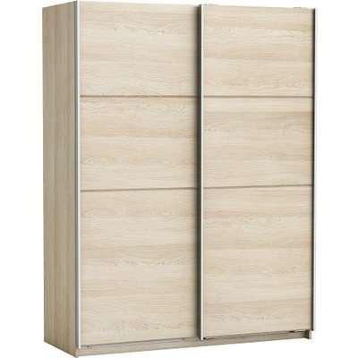 Rossett Wooden Wardrobe Large In Shannon Oak And Linen