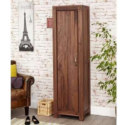 Sayan Wooden Shoe Cupboard In Walnut With 1 Door