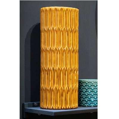 Senile Ceramic Lustre Umbrella Stand In Mustard