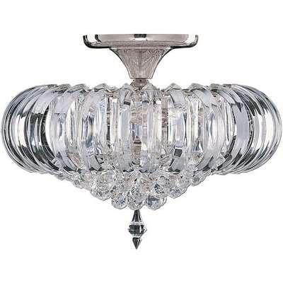 Sigma Semi Flush Oval Chandelier Ceiling Light