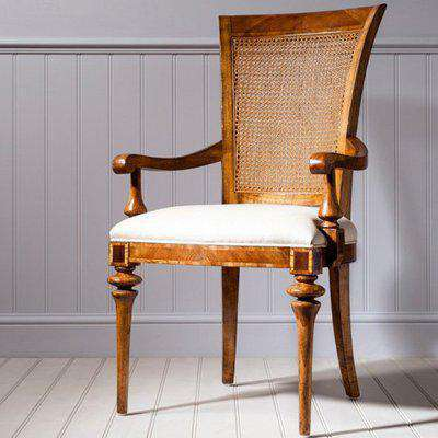 Spire Cane Back Dining Armchair In Walnut