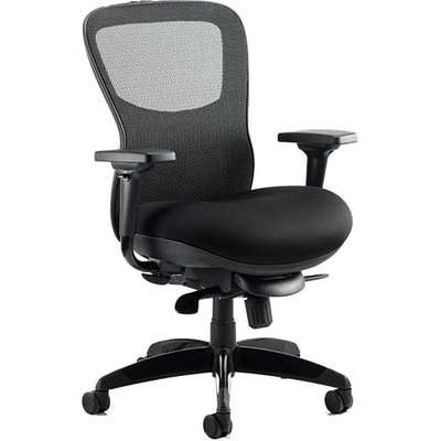 Stealth Shadow Ergo Fabric Office Chair In Black Airmesh Seat