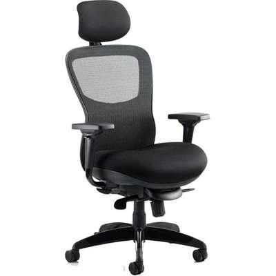 Stealth Shadow Ergo Headrest Office Chair In Black Airmesh Seat