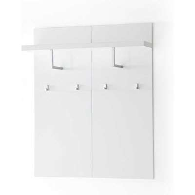 Sydney Wide Wall Mounted Hallway Storage In High Gloss White
