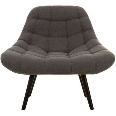 Hyadum Faux Linen Upholstered Bedroom Chair In Grey