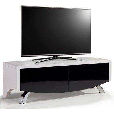 Tansey High Gloss 2 Doors TV Stand In Black And Oak