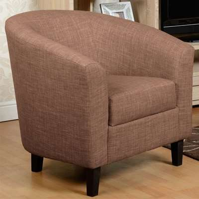Tempo Fabric Upholstered Tub Chair In Sand
