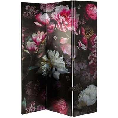 Tylor Canvas Room Divider Screen In Floral Design