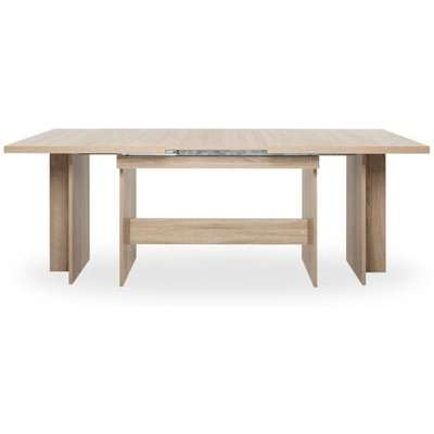 Venatici Extending Dining Table In Structured Concrete