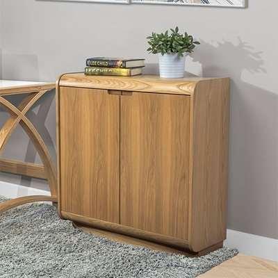 Vikena Wooden Filing Cabinet In Oak With 2 Doors