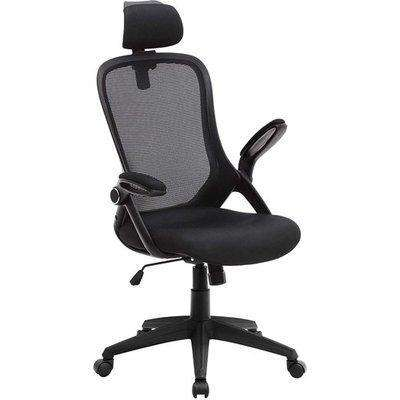 Vinton Mesh Fabric Ergonomic Home And Office Chair In Black