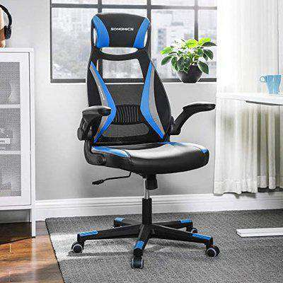 Vinton Swivel Mesh Home And Office Chair In Black And Blue