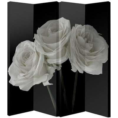 White Rose Foldable Room Divider