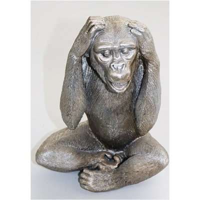 Wise Monkey - Hear No Evil Sculpture
