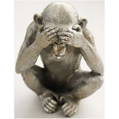 Wise Monkey See No Evil Sculpture