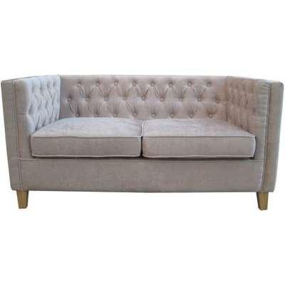 Yorick Contemporary Mink Finish Chenille Style Fabric Sofa