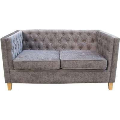 Yorick Contemporary Slate Grey Finish Chenille Style Fabric Sofa