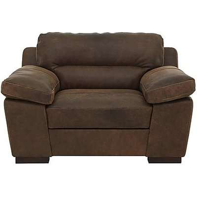 Alessia Leather Snuggler Armchair -Only One Left! - Brown