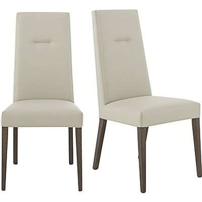 ALF - Vito Pair of Cream Faux Leather Dining Chairs