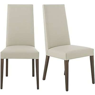 ALF - Vito Pair of Rose Wood Back Faux Leather Dining Chairs