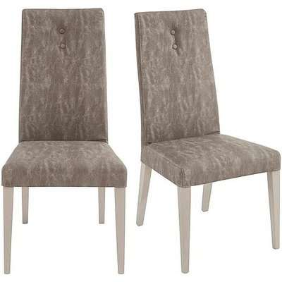 ALF - Alpine Pair of Dining Chairs - Beige