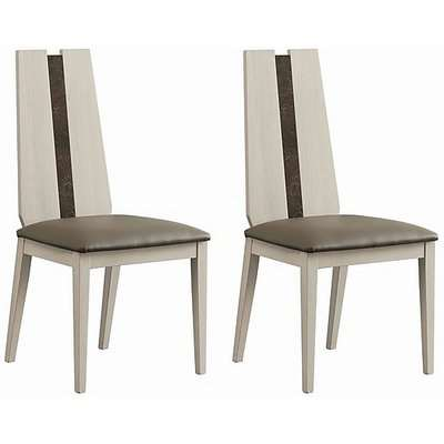ALF - Andorra Pair of Dining Chairs - Beige