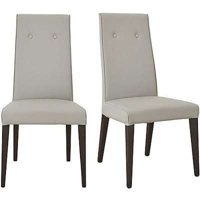 ALF - St Moritz Pair of Faux Leather Upholstered Dining Chairs - Grey