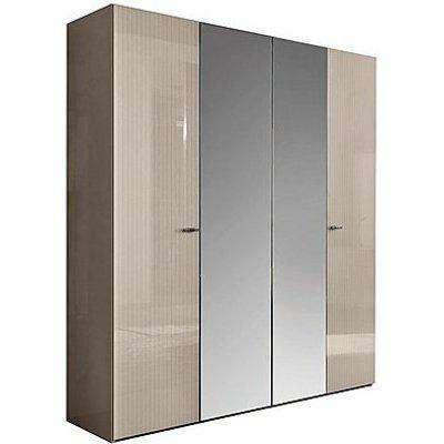 ALF - Livia 4 Door Wardrobe with Mirrors