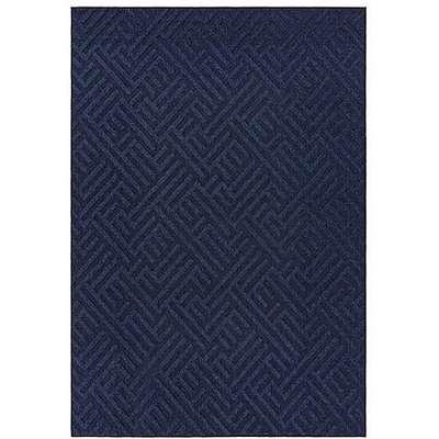 Antibes Blue Linear Outdoor Rug - 80cm-x-150cm