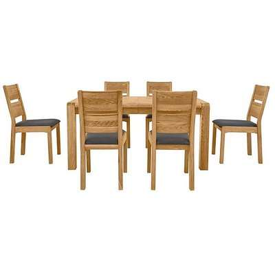 Bakerloo Large Extending Table and 6 Chairs Dining Set