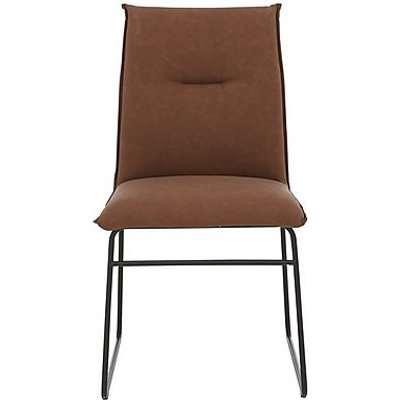 Calligaris - Gate Maya Ski Leg Faux Leather Dining Chair