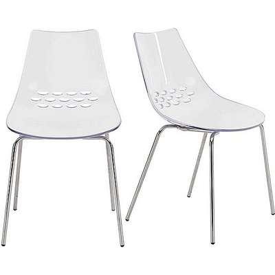 Calligaris - Jam Pair of Dining Chairs - White