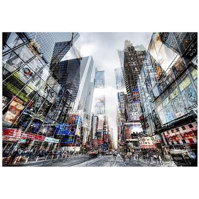 City Scape Glass Wall Art - 70cm-x-100cm