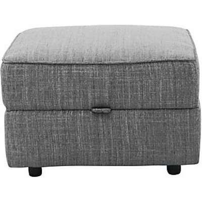 Comfort Story - Title Fabric Storage Footstool - Grey