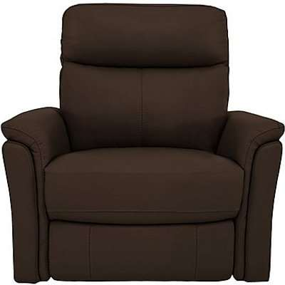 Compact Collection Piccolo Recliner Armchair - Brown- World of Leather