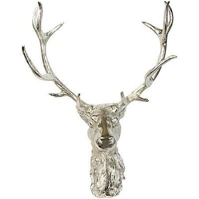 Culinary Concepts - Stag Head Wall Ornament - Silver