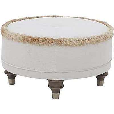Duresta - Princeton Round Fabric Footstool - Cream