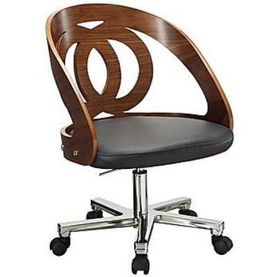 East Street Swivel Office Chair - Black