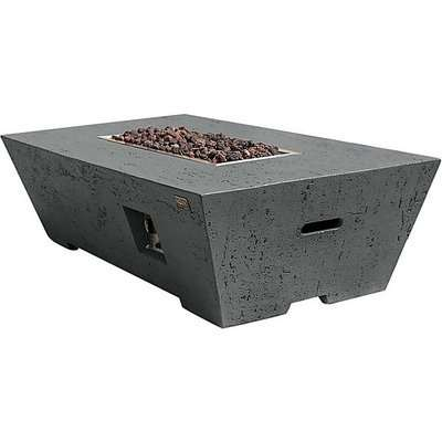 Fireglow Gladstone Gas Powered Rectangular Fire Pit Coffee Table