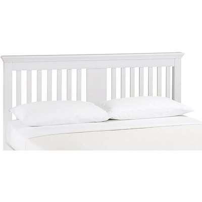 Furnitureland - Emily Wooden Floor Standing Headboard - King Size - White