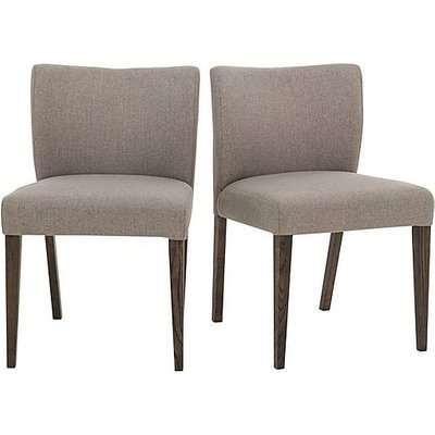 Havana Pair of Fabric Dining Chairs - Grey