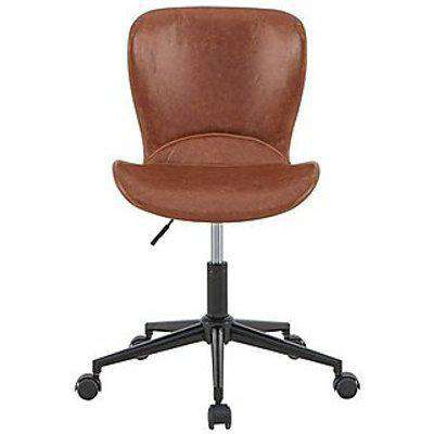 Holden Swivel Office Chair - Brown