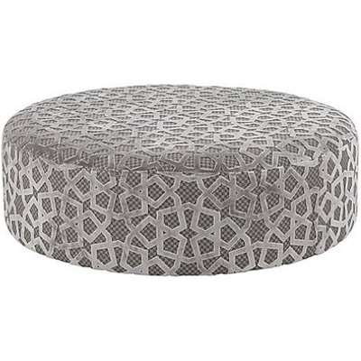 Holly Designer Round Fabric Accent Footstool