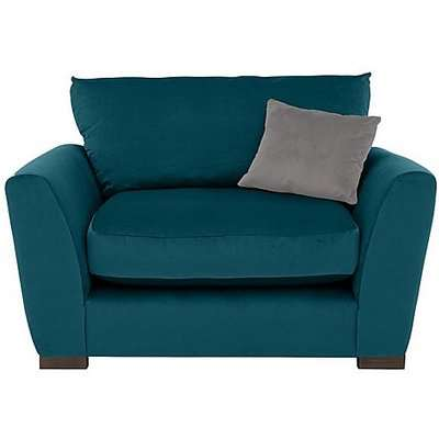Icon Fabric Snuggler Chair - Teal