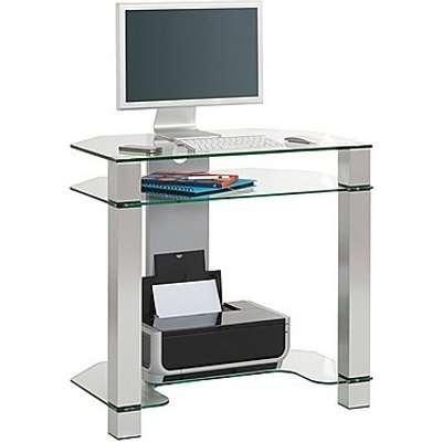 Java Glass Computer Desk - Grey