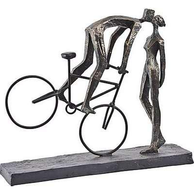 Kissing Couple On Bike Sculpture