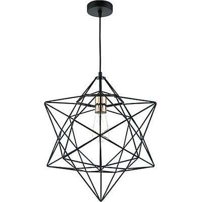 Lex 1 Light Pendant Ceiling Light - Black